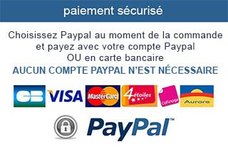 Paiement sécurisé par carte bleue ou compte Paypal